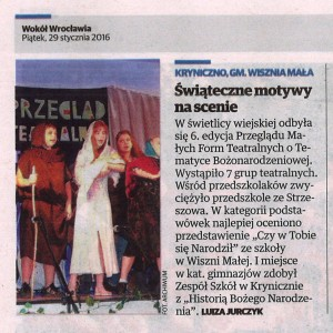 Gazeta Wrocławska Pt 29 stycznia 2016