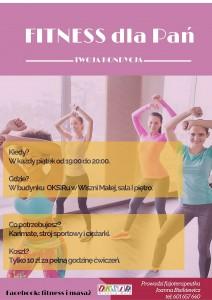 Fitness - J Bisikiewicz plakat